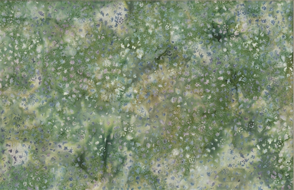 Batik fabric print cactus texture in tones of medium green