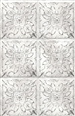 Tin tile digital print fabric in off white tones