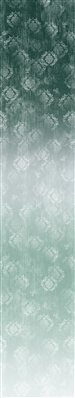 Timeless ombre digital print fabric in blue green tones