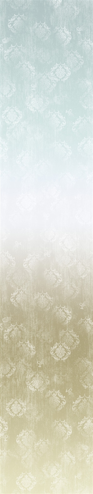 Timeless ombre digital print fabric in blue-gray and neutral tones