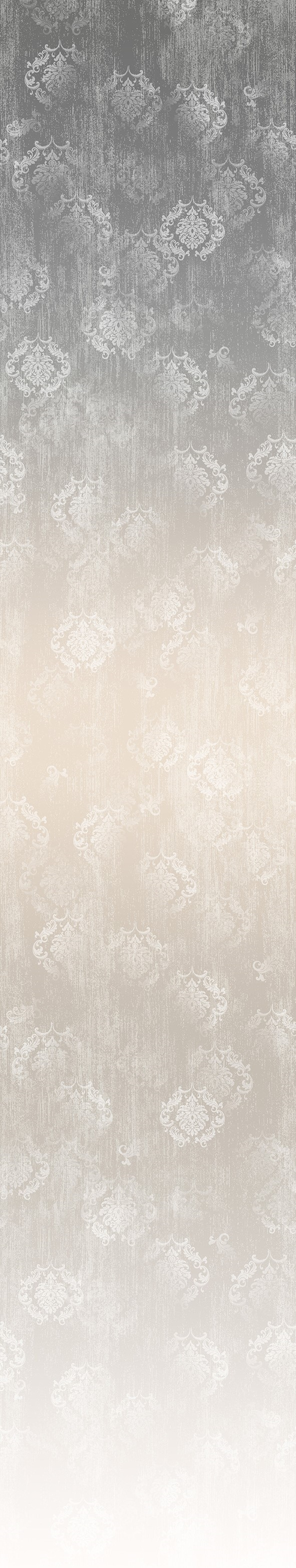 Timeless ombre digital print fabric in gray and neutral taupe tones