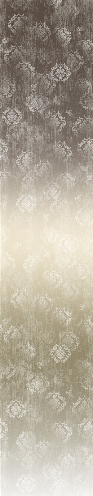 Timeless ombre digital print fabric in brown and neutral tones