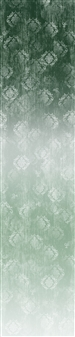 Timeless ombre digital print fabric in green gray tones