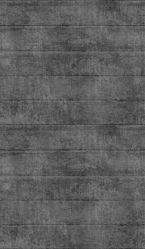 Distressed wood digital print fabric in black tones