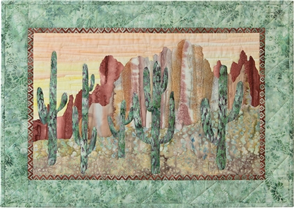 red southwestern rocks, mountains, and cactus cacti, desert