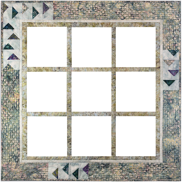 Border fabrics and pattern for McKenna's Nesting Pieced Quilt