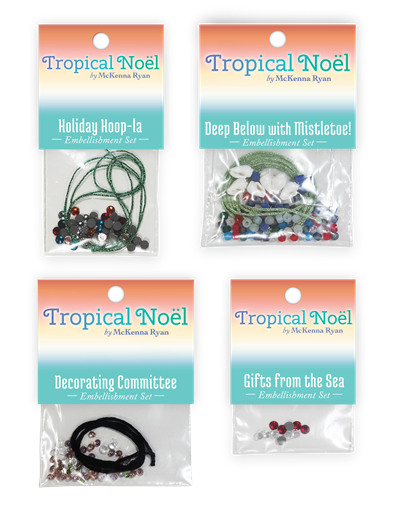 Tropical Noel Complete Embellishment Set