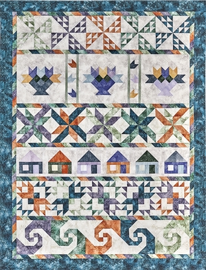 There's No Place Like Home Pieced Bed Quilt Kit
