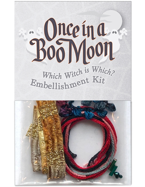 Embellishment kit for block two in Once in a Boo Moon.
