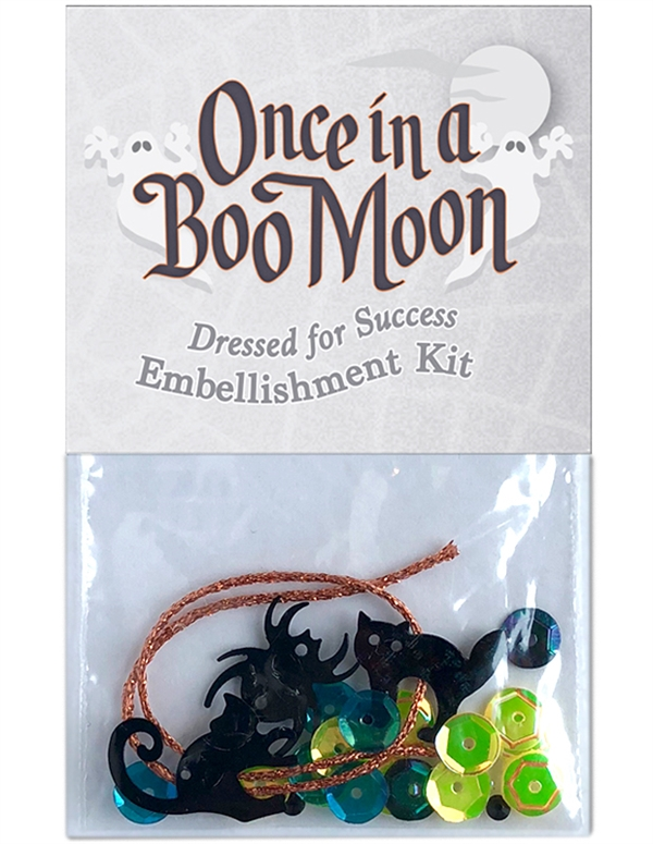 Embellishment kit for block three in Once in a Boo Moon.