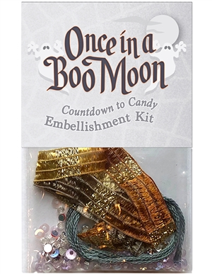 Embellishment kit for block four in Once in a Boo Moon.