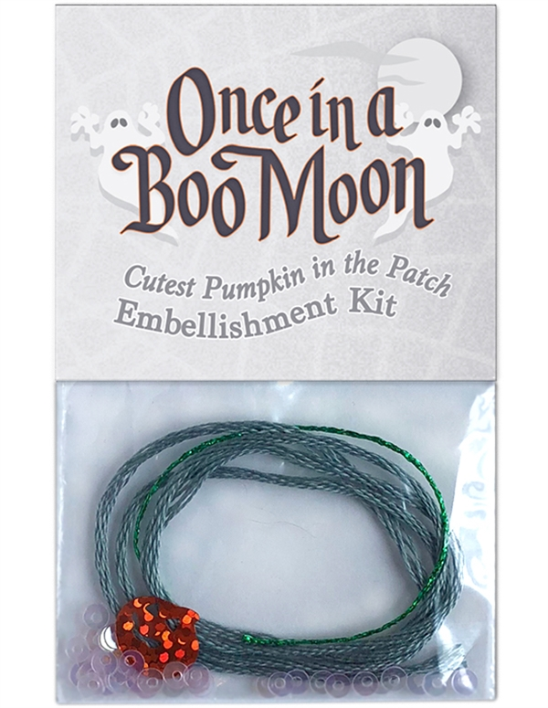 Embellishment kit for block five in Once in a Boo Moon.