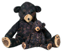 Pattern for two stuffed teddy bears - Mama and her Baby Bear