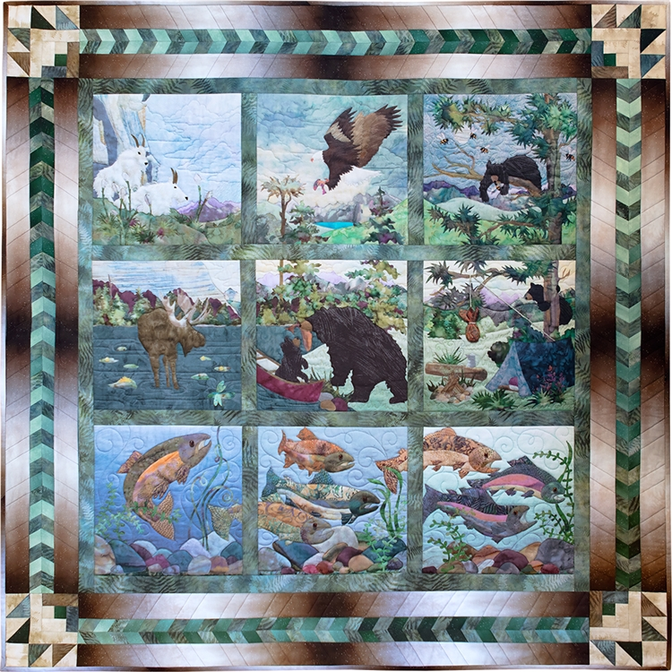 Road Trip Quilt Pattern by McKenna Ryan Block 9 Hangin/' by a Thread Perfect for Wall Quilt Great Gift for Quilters