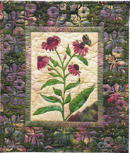Purple Coneflower Applique Pattern