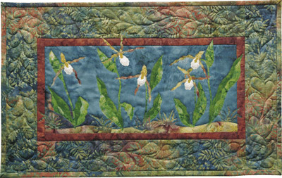 Mountain Lady Slipper Applique Pattern