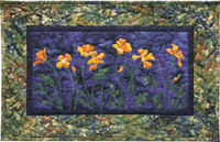 California Poppies Applique Pattern
