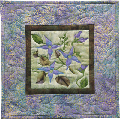 Blue Clematis Applique Pattern