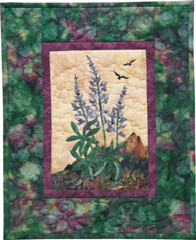 Lupine Applique Pattern