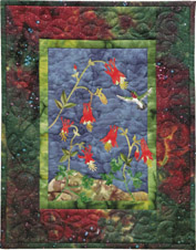 Wild Columbine Applique Pattern