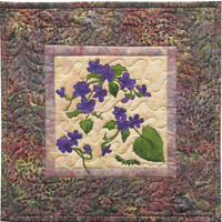 Early Blue Violets Applique Pattern