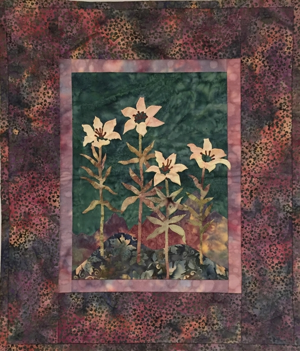 McKenna's Wood Lily - Finished Quilt Block - SOLD!