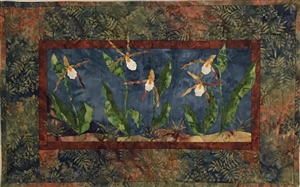 Mountain Lady Slipper - Finished Quilt Block - SOLD!