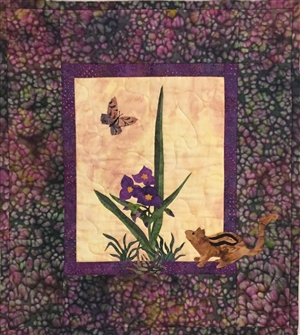 Spiderwort - Finished Quilt Block - SOLD!