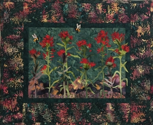 Indian Paintbrush - Finished Quilt Block - SOLD!