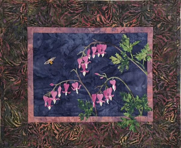Wild Bleeding Heart - Finished Quilt Block - SOLD!