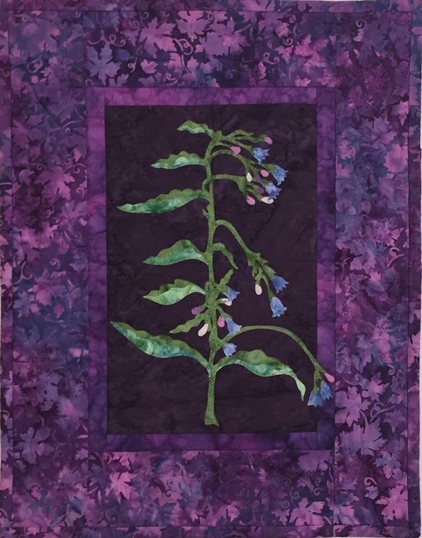 Tall Blue Bell - Finished Quilt Block