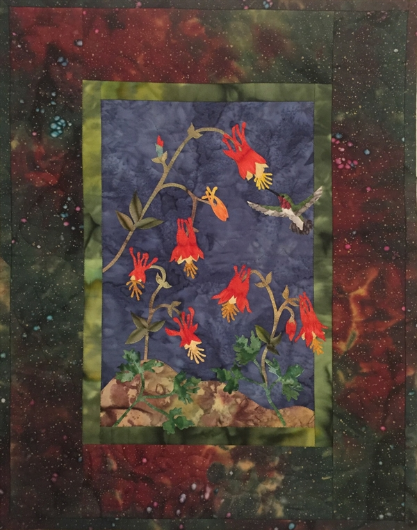 Wild Columbine - Finished Quilt Block - SOLD!