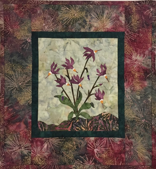 Shooting Star - Finished Quilt Block - SOLD!