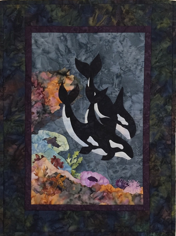 Orca-Stra - Finished Quilt Block