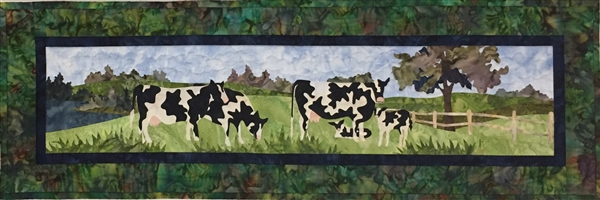 Holstein Ahead - Finished Quilt Block