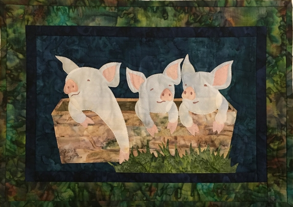 Pork It Over - Finished Quilt Block