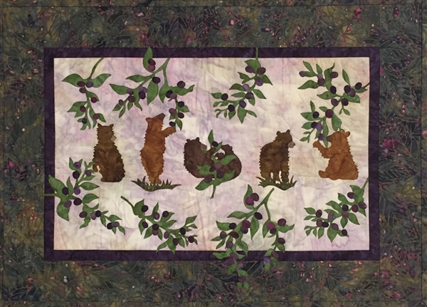 Cubs 'N Bearies - Finished Quilt Block