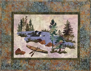 Echo Lake - Finished Quilt Block - SOLD!
