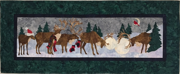 Reindeer Games - Finished Quilt Block - SOLD!