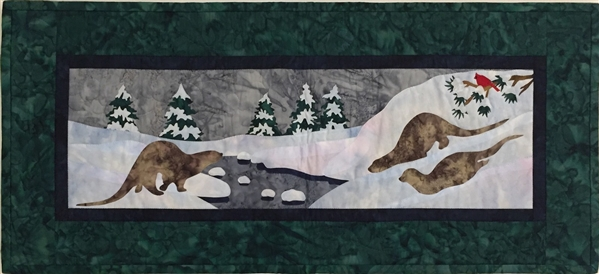 Dashing through the Snow - Finished Quilt Block
