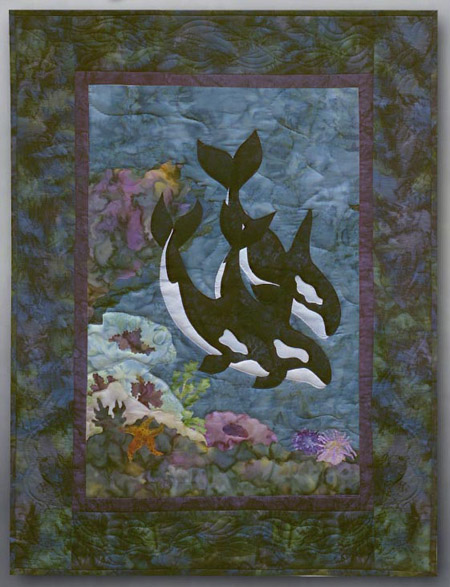 Orca-stra Applique Pattern