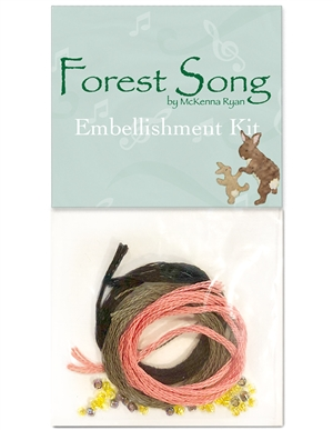 Embellishment kit for McKenna's 2018 Row, Forest Song