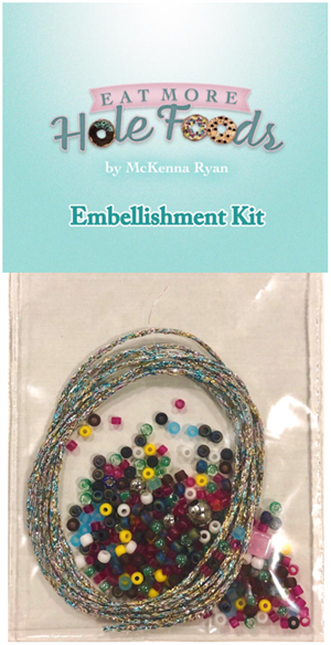 Embellishment kit for McKenna's 2019 Row, Eat More Hole Foods