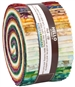 Complete selection of Bella Vita fabric strips in a roll up.