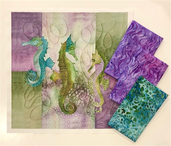Sea Horse Zippered Pouch Kit