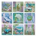 Full set of nine Sea Breeze Truly McKenna Art Prints.