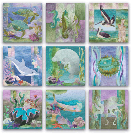 complete pattern set for McKenna's applique patterns from the Sea Breeze collection