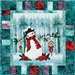 Frosty Perch Applique Pattern