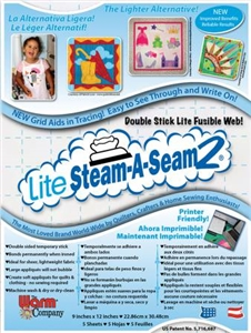 "Image shows package of 9"" x 12"" of Steam a Seam Lite 2 fusible web"