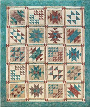 Southwest Oasis Pieced Quilt Pattern Instructions